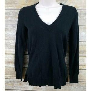 J. Crew Factory Women's Black V Neck Sweater